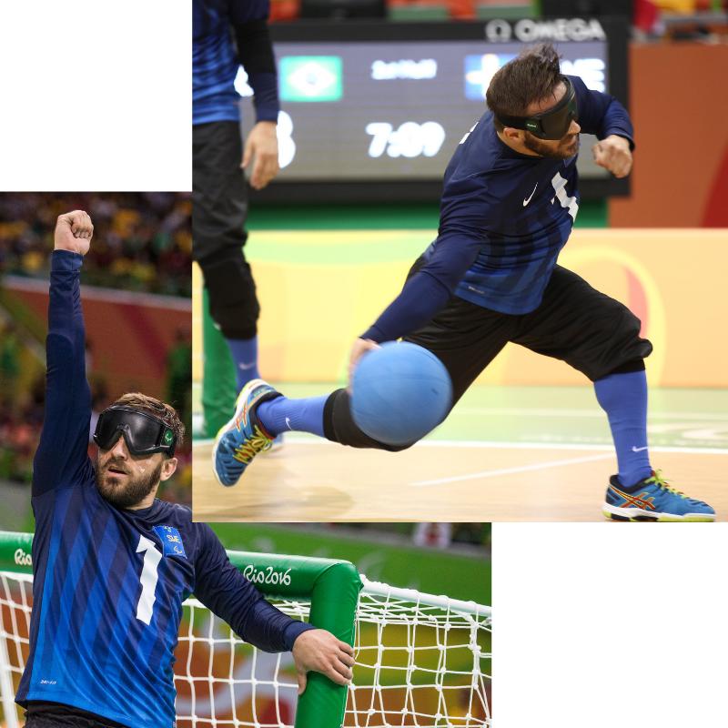 Fatmir Seremeti spelar Goalball i Rio 2016